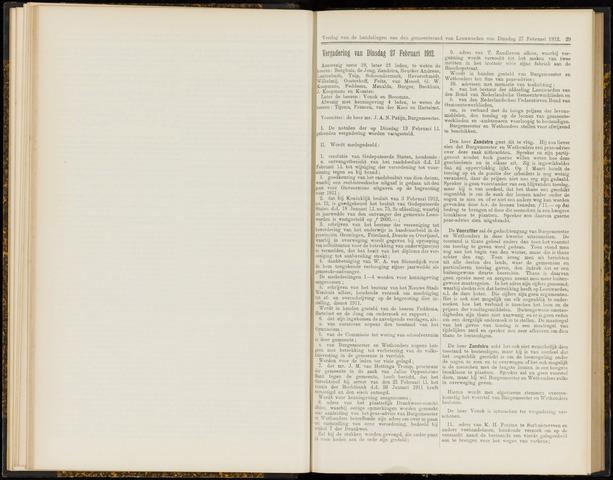 Raadsverslagen van de gemeente Leeuwarden, 1865-2007 (Notulen) 1912-02-27