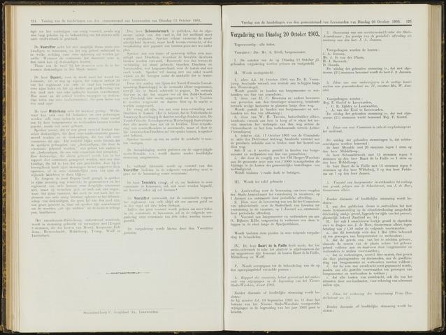 Raadsverslagen van de gemeente Leeuwarden, 1865-2007 (Notulen) 1903-10-20