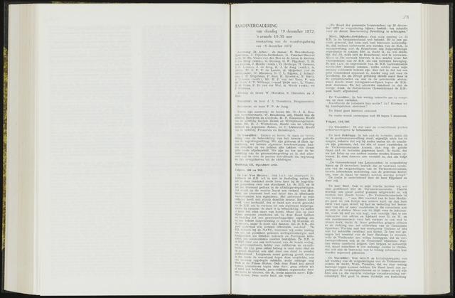 Raadsverslagen van de gemeente Leeuwarden, 1865-2007 (Notulen) 1972-12-19