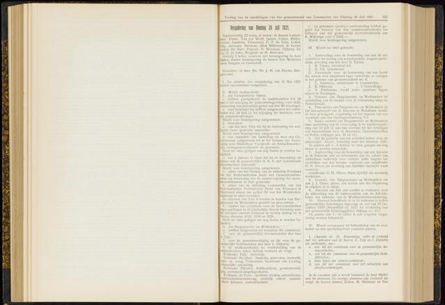 Raadsverslagen van de gemeente Leeuwarden, 1865-2007 (Notulen) 1921-07-26