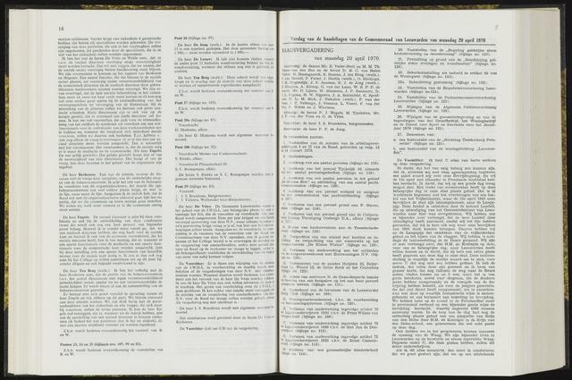 Raadsverslagen van de gemeente Leeuwarden, 1865-2007 (Notulen) 1970-04-20