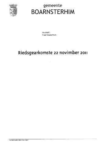 Boarnsterhim vergaderstukken gemeenteraad  2011-11-22