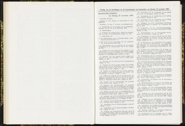 Raadsverslagen van de gemeente Leeuwarden, 1865-2007 (Notulen) 1966-11-29