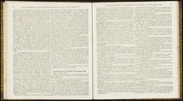 Raadsverslagen van de gemeente Leeuwarden, 1865-2007 (Notulen) 1879-08-26