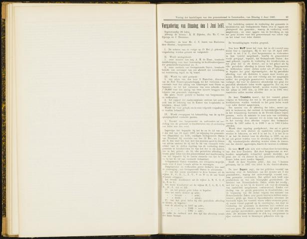 Raadsverslagen van de gemeente Leeuwarden, 1865-2007 (Notulen) 1897-06-01