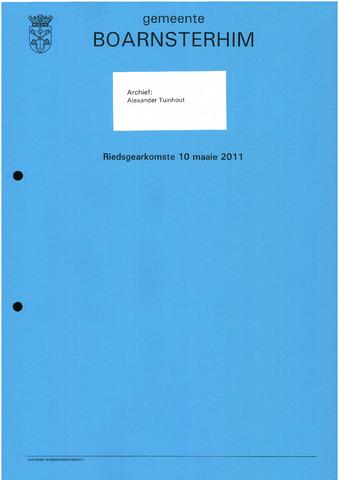 Boarnsterhim vergaderstukken gemeenteraad  2011-05-10