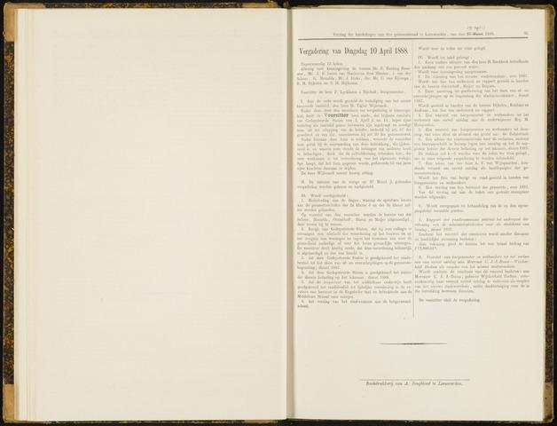 Raadsverslagen van de gemeente Leeuwarden, 1865-2007 (Notulen) 1888-04-10