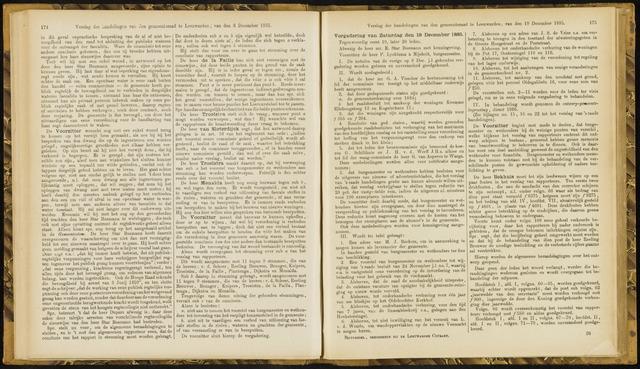 Raadsverslagen van de gemeente Leeuwarden, 1865-2007 (Notulen) 1885-12-19