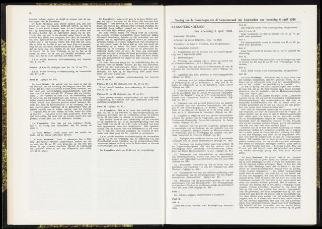 Raadsverslagen van de gemeente Leeuwarden, 1865-2007 (Notulen) 1966-04-06
