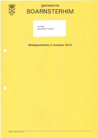Boarnsterhim vergaderstukken gemeenteraad  2010-11-02