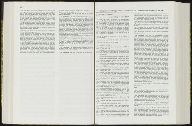 Raadsverslagen van de gemeente Leeuwarden, 1865-2007 (Notulen) 1972-05-15