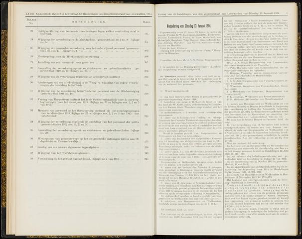 Raadsverslagen van de gemeente Leeuwarden, 1865-2007 (Notulen) 1914-01-13