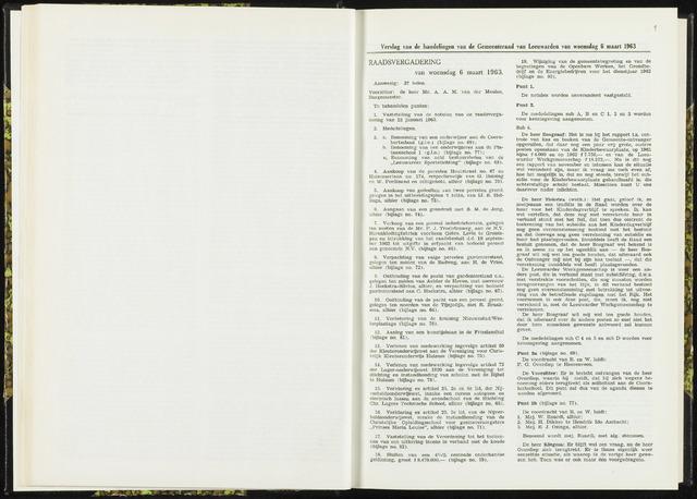 Raadsverslagen van de gemeente Leeuwarden, 1865-2007 (Notulen) 1963-03-06