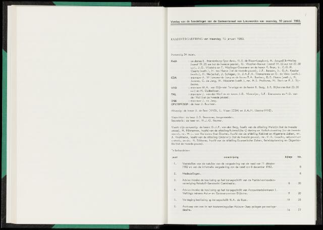 Raadsverslagen van de gemeente Leeuwarden, 1865-2007 (Notulen) 1983