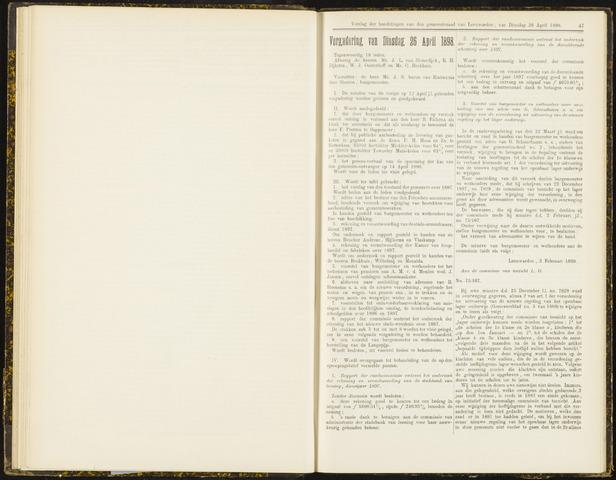 Raadsverslagen van de gemeente Leeuwarden, 1865-2007 (Notulen) 1898-04-26