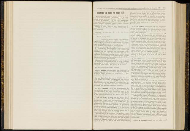 Raadsverslagen van de gemeente Leeuwarden, 1865-2007 (Notulen) 1927-10-18