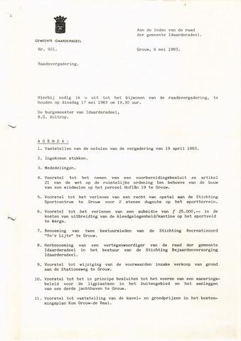 raadsverslagen Idaarderadeel 1935-1983 1983-05-17