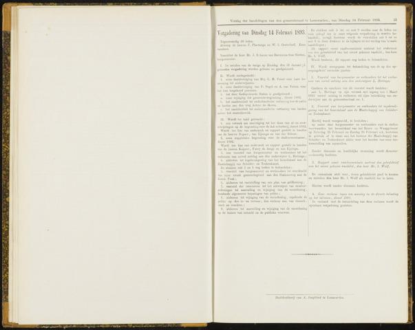 Raadsverslagen van de gemeente Leeuwarden, 1865-2007 (Notulen) 1893-02-14