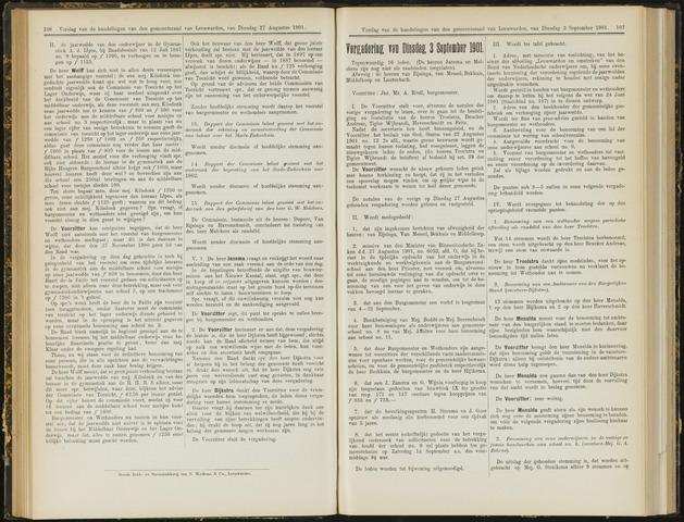 Raadsverslagen van de gemeente Leeuwarden, 1865-2007 (Notulen) 1901-09-03