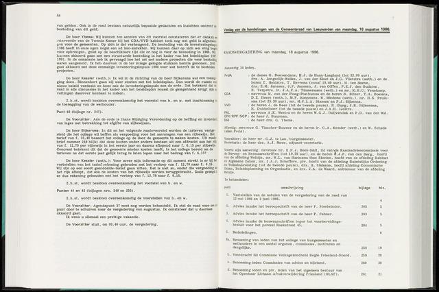 Raadsverslagen van de gemeente Leeuwarden, 1865-2007 (Notulen) 1986-08-18