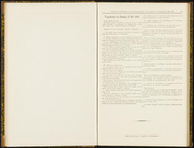 Raadsverslagen van de gemeente Leeuwarden, 1865-2007 (Notulen) 1891-05-12