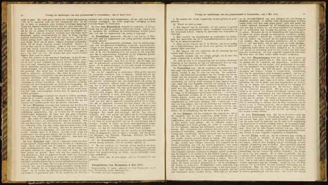 Raadsverslagen van de gemeente Leeuwarden, 1865-2007 (Notulen) 1874-05-06
