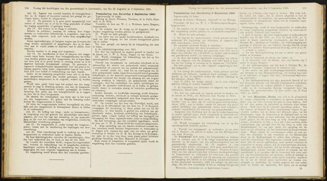 Raadsverslagen van de gemeente Leeuwarden, 1865-2007 (Notulen) 1880-09-04