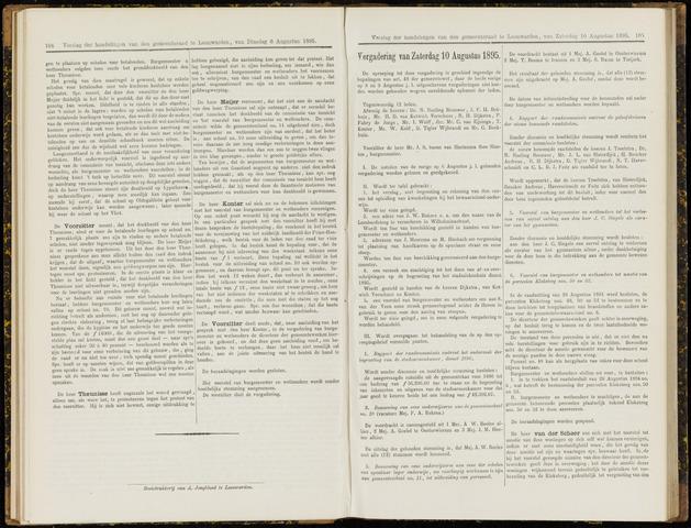Raadsverslagen van de gemeente Leeuwarden, 1865-2007 (Notulen) 1895-08-10
