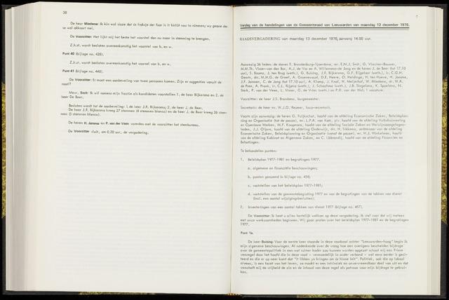 Raadsverslagen van de gemeente Leeuwarden, 1865-2007 (Notulen) 1976-12-13