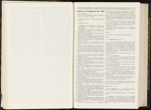 Raadsverslagen van de gemeente Leeuwarden, 1865-2007 (Notulen) 1949-11-30