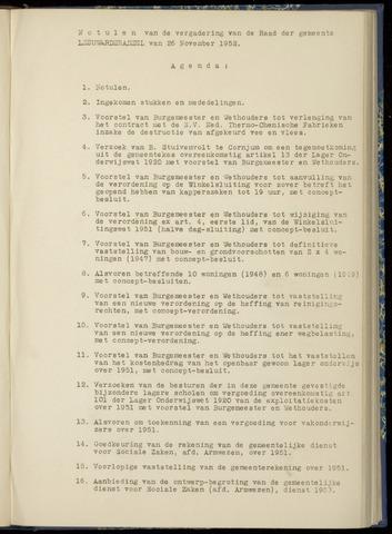 Notulen van de gemeenteraad van Leeuwarderadeel 1952-11-26
