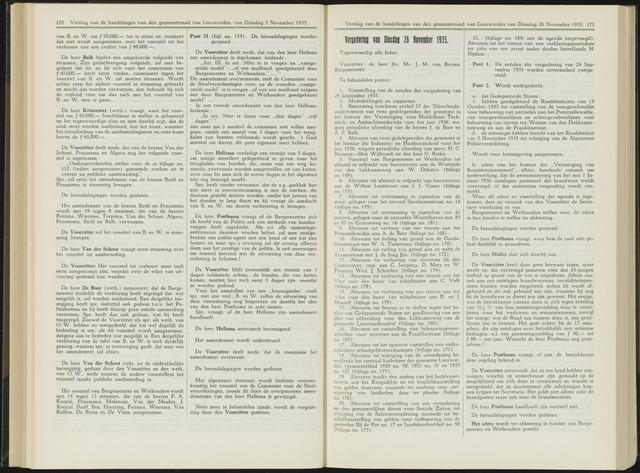 Raadsverslagen van de gemeente Leeuwarden, 1865-2007 (Notulen) 1935-11-26