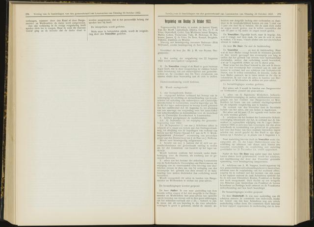 Raadsverslagen van de gemeente Leeuwarden, 1865-2007 (Notulen) 1922-10-24