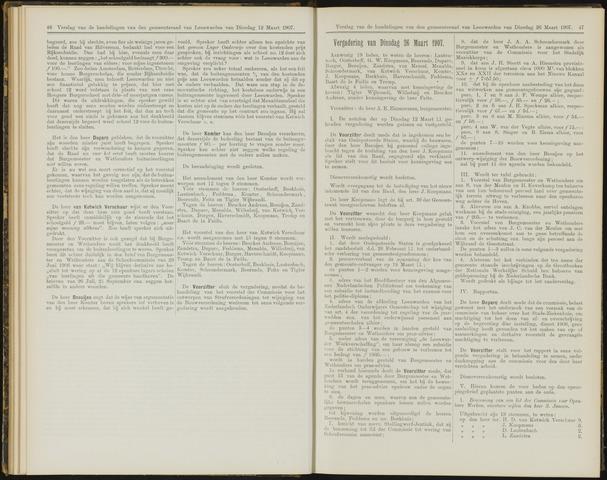 Raadsverslagen van de gemeente Leeuwarden, 1865-2007 (Notulen) 1907-03-26