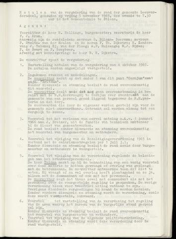 Notulen van de gemeenteraad van Leeuwarderadeel 1965-11-05