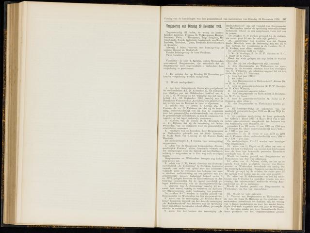 Raadsverslagen van de gemeente Leeuwarden, 1865-2007 (Notulen) 1912-12-10