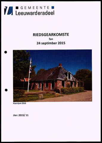 Notulen van de gemeenteraad van Leeuwarderadeel 2015-09-24