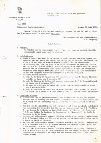 raadsverslagen Idaarderadeel 1935-1983 1974-08-06
