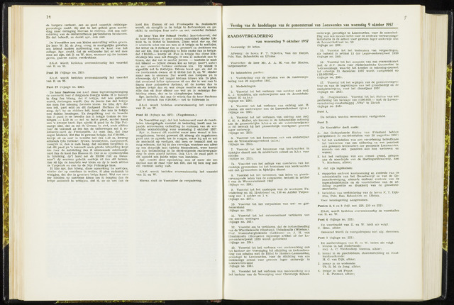 Raadsverslagen van de gemeente Leeuwarden, 1865-2007 (Notulen) 1957-10-09