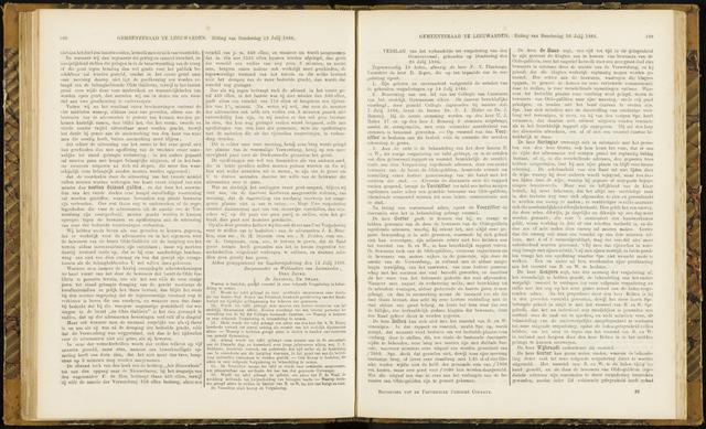 Raadsverslagen van de gemeente Leeuwarden, 1865-2007 (Notulen) 1866-07-26