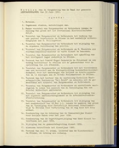 Notulen van de gemeenteraad van Leeuwarderadeel 1960-06-30