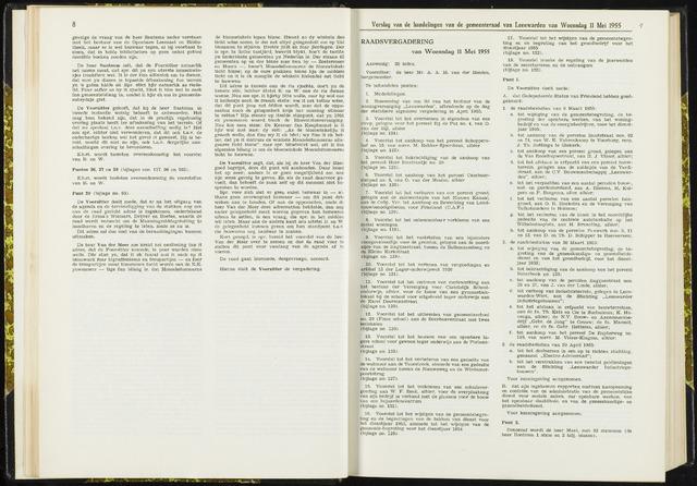 Raadsverslagen van de gemeente Leeuwarden, 1865-2007 (Notulen) 1955-05-11