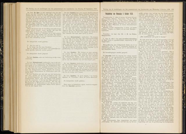 Raadsverslagen van de gemeente Leeuwarden, 1865-2007 (Notulen) 1920-10-06