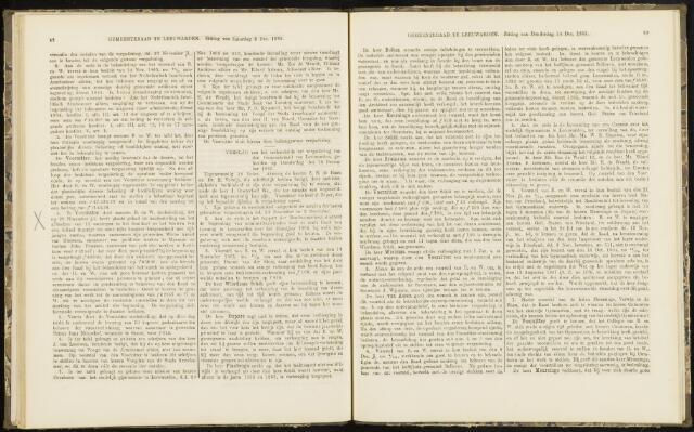 Raadsverslagen van de gemeente Leeuwarden, 1865-2007 (Notulen) 1865-12-14
