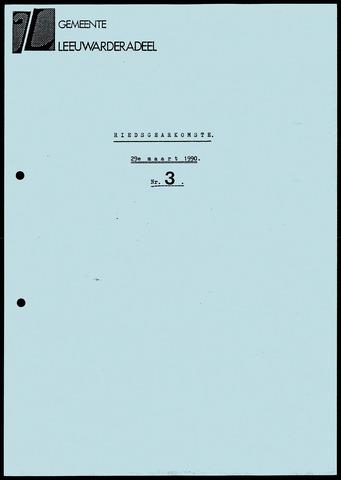 Notulen van de gemeenteraad van Leeuwarderadeel 1990-03-29