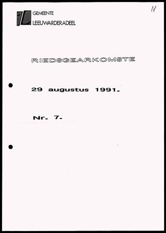 Notulen van de gemeenteraad van Leeuwarderadeel 1991-08-29