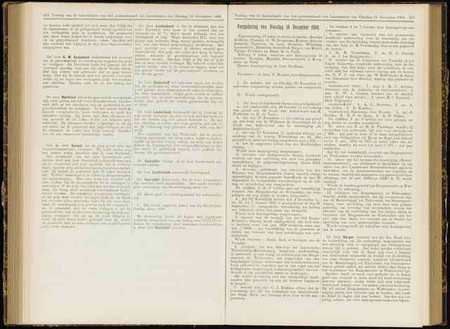 Raadsverslagen van de gemeente Leeuwarden, 1865-2007 (Notulen) 1909-12-14