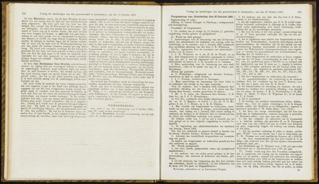 Raadsverslagen van de gemeente Leeuwarden, 1865-2007 (Notulen) 1881-10-27