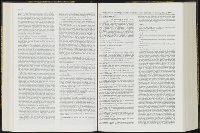 Raadsverslagen van de gemeente Leeuwarden, 1865-2007 (Notulen) 1970-03-09