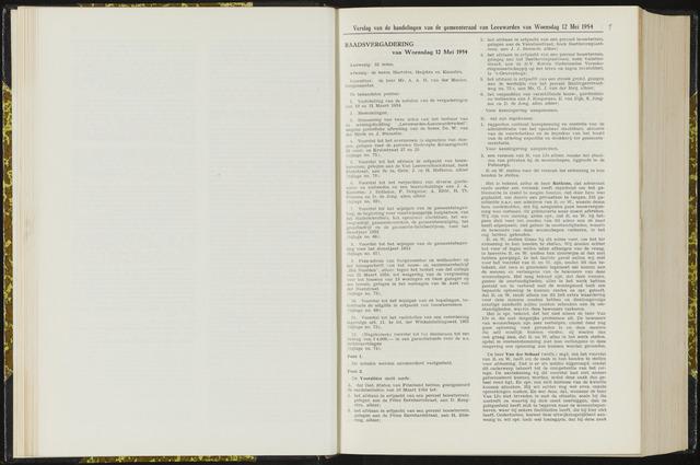 Raadsverslagen van de gemeente Leeuwarden, 1865-2007 (Notulen) 1954-05-12